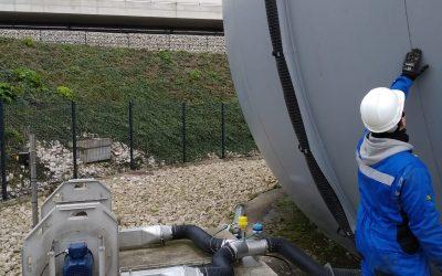 Contratos de servicios de unidades de biogás en la región de París