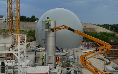 Mounting a Hofstetter torch and a Sattler gasometer for OTV Grand Paris in Bonneuil (95)