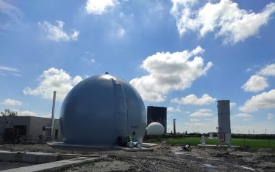 Micreau assure le montage d'un gazomètre pour Octeva à Calais
