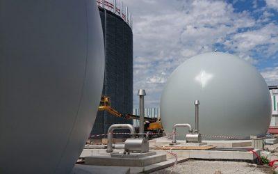Micr'Eau instala dos instalaciones de almacenamiento de biogás Sattler en el sur de Bruselas
