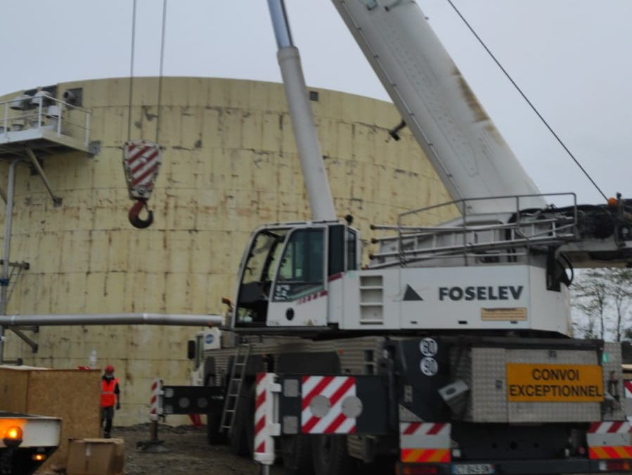 Assembly of 2 gasometers for Veolia in Ariège