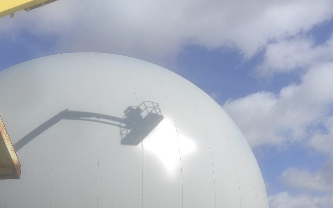 Micreau achève la rénovation du gazomètre de 5000m3 pour  GRT GAZ à Alfortville